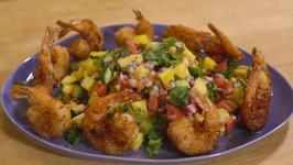 Crispy Coconut Shrimp with Habanero Mango Salsa