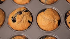Blueberry and Grape Muffins