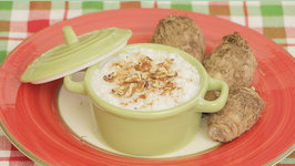 Healthy Holiday Dessert-Coconut Rice Pudding With Tarot Root And Pecans