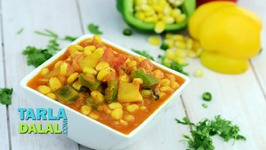 Corn Capsicum, Recipe In Hindi