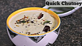 Cashew Chutney / Quick Fix Chutney - Side For South Indian Breakfast / Idli, Dosa, Upma Accompaniment