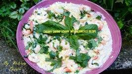 Creamy Shrimp Scampi With Vermicelli