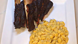 Smoked Beef Ribs 2 on the Weber Kettle