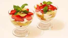 Strawberry Kiwi and Cornflakes Parfait Mothers Day