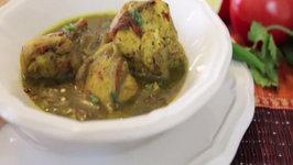 Delicious Green Masala Chicken Curry