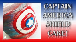Captain America Shield Cake
