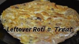 Leftover Roti To Egg Roti In 2 Mins- Innovative Recipe