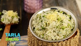Cheese Onion and Green Peas Pulao (In Gujarati)
