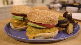 Turkey Zucchini Burgers with Tahini Sauce