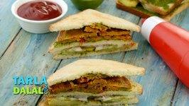 Vegetable Tomato Omelette Sandwich