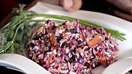 Delicious Vegan Zesty Dill Coleslaw