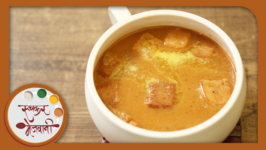 Tomato Soup with Homemade Croutons  Recipe by Archana  Easy To Make Tomato Saar in Marathi