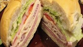 Ham And Turkey Club Sandwich