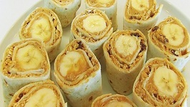 Betty's Peanut Butter and Banana Tortilla Rollups