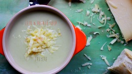 Leek and Potato Soup with Gruyère