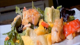 Tex Mex Chicken and Shrimp Salad with Honey Lime Dressing