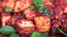 Paneer 65 - A Vegetarian Version of Chicken 65 Made with Fresh Cheese