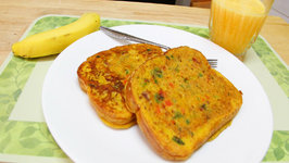 No Eggs Bread Omelette - Quick Easy Breakfast