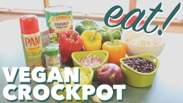 Vegan Crockpot Stuffed Peppers - Slowcooker Recipe