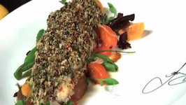 News Canada: Herb Crusted Halibut and Chocolate Bread Pudding