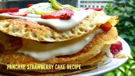 Pancake Strawberry Cake