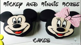 Mickey Mouse Cake and Minnie Mouse CAKE - How to Make