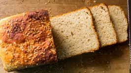 Brown Bread Recipe -  Whole Wheat - Eggless, Healthy, No Oven - Eggless Baking Without Oven