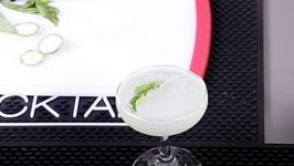 Basil Infused Daiquiri, With An ISI Whipper