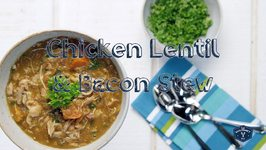 Pressure Cooker Chicken, Lentil, and Bacon Stew