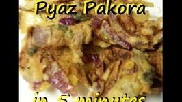 Pakora Pyaz -Microwave Onion Fritters