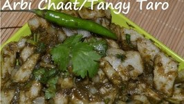 Khati Meethi Arbi-Sweet And Sour Taro Root Salad-Anytime Healthy Appetizer