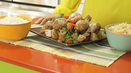 Chicken Drumstick Stew with Potato, Carrot, Ginger and Garlic in Soy Sauce