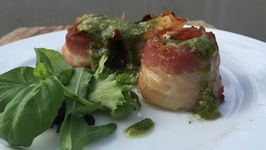 Scallop with Licorice Pesto