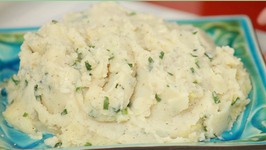 Garlic Mashed Potatoes with Soy Milk