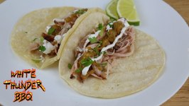 Pork Cheek Tacos With A Roasted Hatch Pepper Sauce