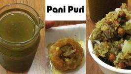 Pani and Filling For Pani Puri - Calcutta Style - Indian Street Food