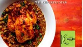 Harissa Roasted Cornish Game Hen With Chickpea Stew