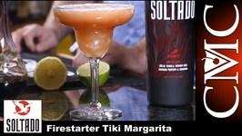 Firestarter Tiki Margarita -Soltado Spicy Anejo Tequila