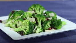 Broccoli Salad With Water Chestnuts And Dried Cranberries