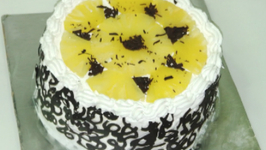 Pineapple Pastry - Pineapple Cake - Cooker Cake - Eggless Baking Without Oven