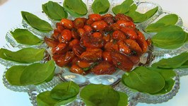 Betty's Sautéed Grape Tomatoes with Baby Spinach -- Thanksgiving
