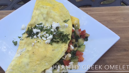 How to Make a Healthy Greek Omelette