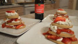How to Make Strawberry Balsamic Shortbread Hearts with Berries and Whipped Cream