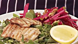 Grilled Chicken Tenderloin with Beetroot and Apple Salad
