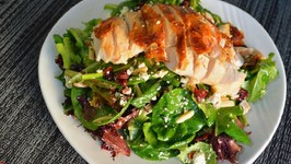Chicken, Cranberry, and Almond Salad Recipe with Citrus Champagne Vinaigrette
