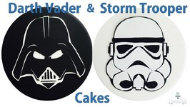 Star Wars VII Cakes - Darth Vader And Stormtrooper Toppers