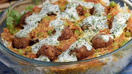 Layered Bread Kofta Biryani by Tarla Dalal