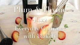 Plum Thyme Fizz