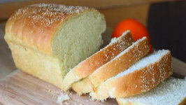 Homemade Semolina Bread Loaf - Soft Spongy Sandwich Bread