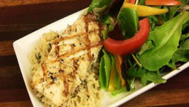 The Lighter Side: Grilled Halibut and Brown Basmati Herb Rice